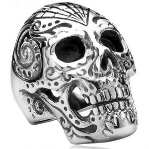 Bague Tête de Mort Fantaisie Mexicaine