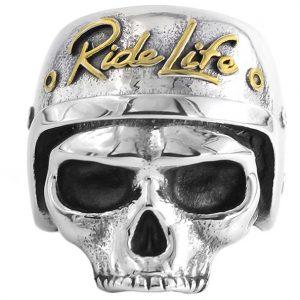 Bague Tête de Mort Ride Life