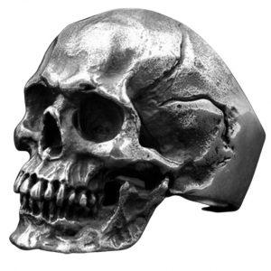 Bague Tête de Mort Tourmentée | Acier