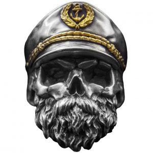 Bague Tête de Mort Capitaine Marin