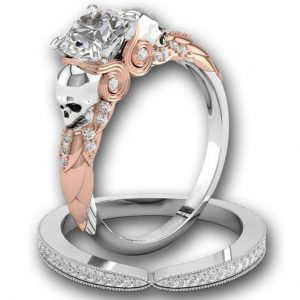 Bague Diamant Tête De Mort