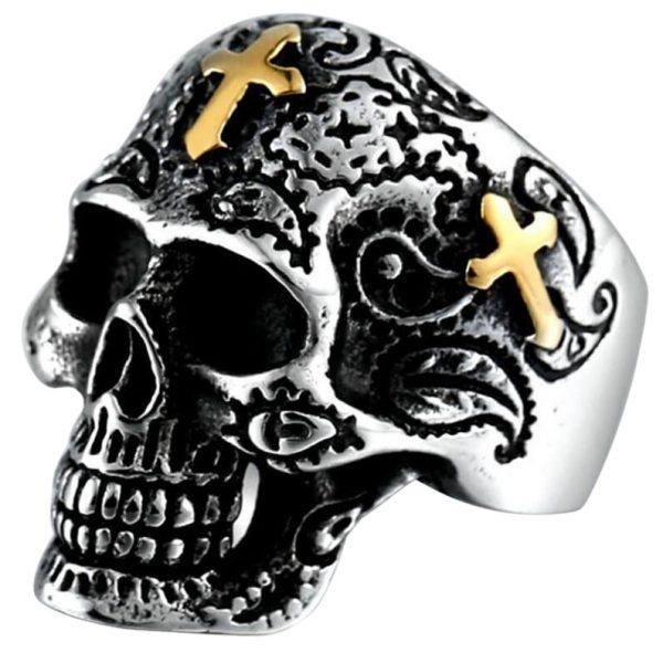 Bague Gothique Croix